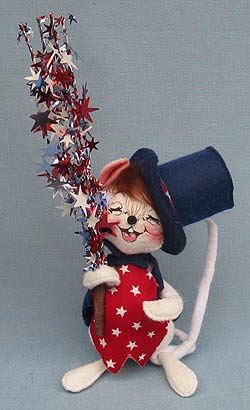 """Annalee 7"""" Star Spangled Mouse - Mint - 203197xo"""