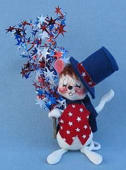 """Annalee 7"""" Star Spangled Mouse - Excellent - 203197xxta"""