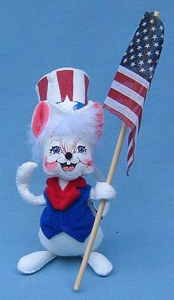 """Annalee 7"""" Patriotic Boy Mouse - Mint - 203203"""