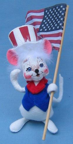 "Annalee 7"" Patriotic Boy Mouse - Mint - 203203ooh"