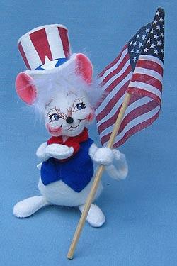 "Annalee 7"" Patriotic Boy Mouse - Mint - 203203ox"