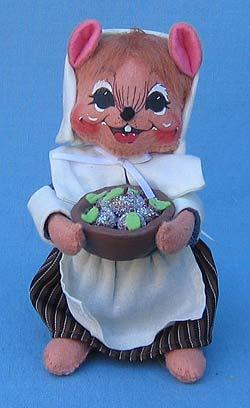"Annalee 6"" Pilgrim Girl Mouse in Blue - Mint - 203307"