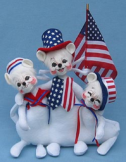 "Annalee 11"" Patriotic Bunch of Mice - Mint - 203404"
