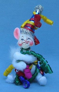 "Annalee 4"" Celebration Cat - Mint - 203704tong"