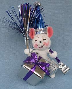 "Annalee 4"" Celebration Mouse - Mint - 203804sq"