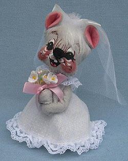 """Annalee 7"""" Bride Mouse - Mint - 205587"""