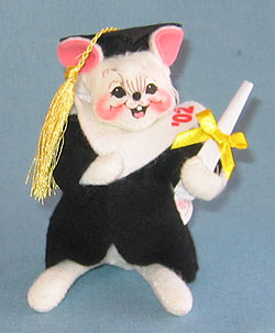 """Annalee 5"""" Graduation Mouse Dated '02 - Mint - 210102"""