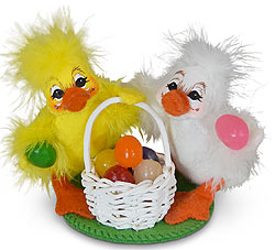 "Annalee 3"" Jelly Bean Duckies with Basket 2020 - Mint - 210220"