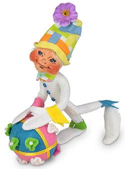 "Annalee 5"" Easter Egg Roll Elf 2020 - Mint - 211020"