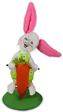 """Annalee 5"""" Pogo Stick Bunny 2021 - Mint - 211021"""