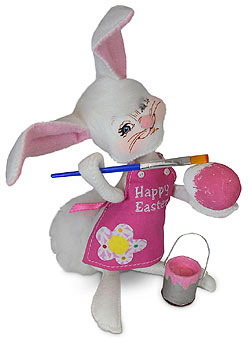 """Annalee 6"""" Happy Easter Artist Bunny Painting Egg 2020 - Mint - 211420"""