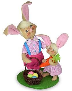 "Annalee 6"" Easter Egg Hunt Bunnies 2020 - Mint - 211720"