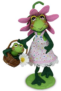 """Annalee 10"""" Froggie Mom with 3"""" Baby Frolic 2020 - Mint - 212120"""