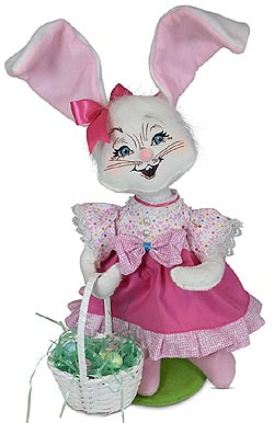 """Annalee 12"""" Easter Parade Girl Bunny 2020 - Mint - 212320"""