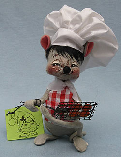 """Annalee 7"""" Barbecue Chef Mouse - Mint - 212587sq"""