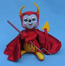 "Annalee 6"" Devil Mouse Holding Pitchfork - Mint - 219503"