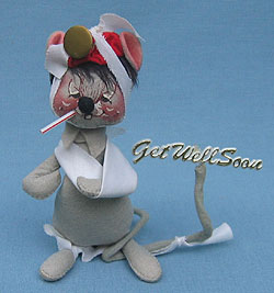 """Annalee 7"""" Get Well Mouse - Good - 224584a"""
