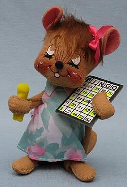 "Annalee 7"" Bingo Mouse - Mint - 227699xot"