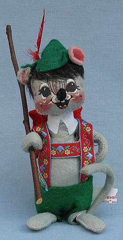 """Annalee 7"""" Hiker Mouse with Backpack - Good - 230585a"""