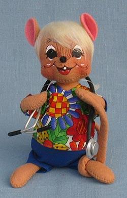 "Annalee 7"" Nurse - Doctor Medical Mouse in Scrubs - Mint  - 232910med"
