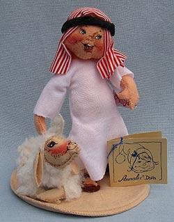 "Annalee 7"" Nativity Arab Shepherd Boy with Lamb - Mint - 234993tong"