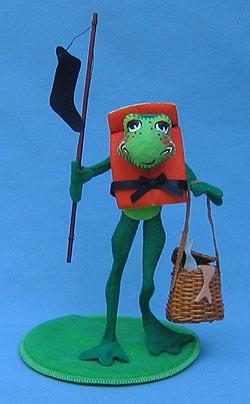 "Annalee 10"" Fishin' Freddy Frog - Mint - 240398"