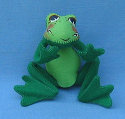 """Annalee 10"""" Leapin Frog - Mint - 240696"""