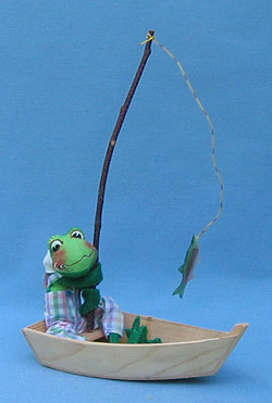 "Annalee 10"" Frog in Boat - Mint - 240892"