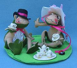 "Annalee 10"" Tea Time Toads - Mint - 240998"
