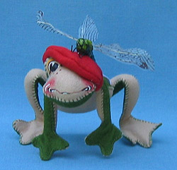 """Annalee 10"""" Toni Toad with Dragonfly - Mint - 241200"""