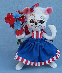 """Annalee 6"""" 2016 Patriotic Fourth of July Girl Mouse NWT /& Free Shipping"""