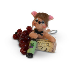"Annalee 3"" Corker Mouse with Wine Bottle 2018 - Mint - 250818"