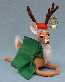 """Annalee 7"""" Deer Camp in Tent with Lantern 2014 - Mint - 250914"""