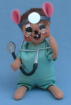 """Annalee 7"""" Nurse - Doctor Medical Mouse in Scrubs - Mint - 2535131"""