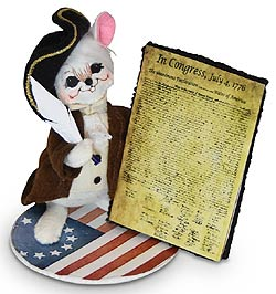 "Annalee 5"" Declaration of Independence Mouse 2020 - Mint - 260320"