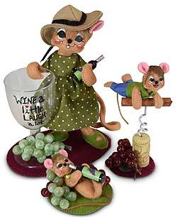 Annalee Set of Three Wine Mice -  2020 - Mint - 2609-2610-261120