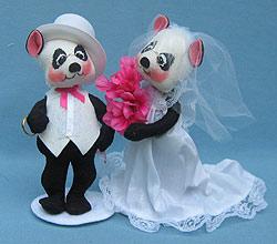 "Annalee 8"" Bride & Groom Panda Bears - Excellent - 2789-2788-01a"