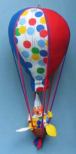 """Annalee 22"""" Hot Air Balloon with 10"""" Clown - Mint / Near Mint - 292585"""