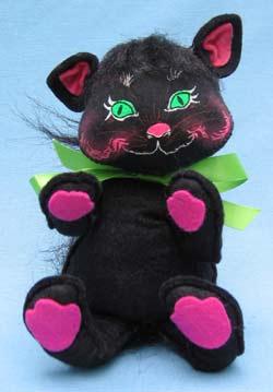 "Annalee 10"" Black Halloween Cat - Mint - 298491"
