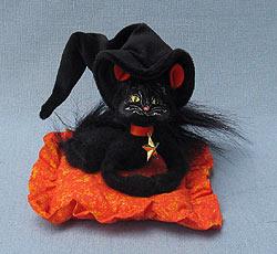 "Annalee 4"" Moonlight Witch Cat on Pillow - Mint / Near Mint - 300109"