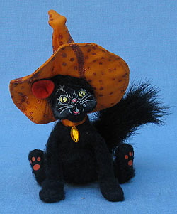 """Annalee 4"""" Witch Cat - Mint - 300211"""