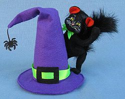 """Annalee 4"""" Witch Hat Kitty Cat 2013 - 300213 - Mint"""