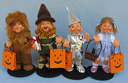 "Annalee 6"" Wizard of Oz Trick or Treat Set of 4 - 2017 - Mint - 3003-300617"