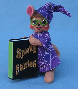 "Annalee 5"" Spooky Story Wizard Mouse - Mint - 300811"