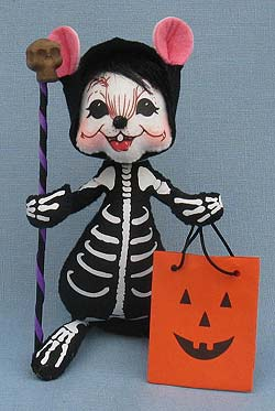 "Annalee 6"" Skeleton Mouse 2014 - Mint - 301014"