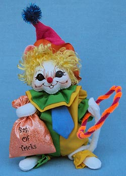 """Annalee 6"""" Trick or Treat Clown Mouse - Mint - 301108oxt"""