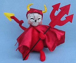 """Annalee 6"""" Devil Mouse with Pitchfork 2015 - Mint - 301115"""