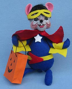 """Annalee 6"""" Super Hero Mouse 2015 - Mint - 301215"""