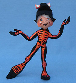 "Annalee 9"" Orange Skeleton Elf - Mint - 301911"