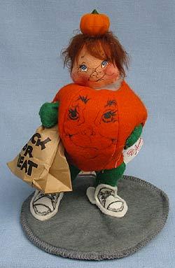 """Annalee 7"""" Pumpkin Kid - Excellent - 303189oxsm"""